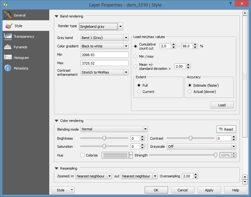 Rasters — QGIS Tutorials 0 1 documentation